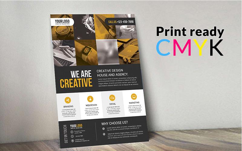 Diseño de Flyer - Plantilla de identidad corporativa
