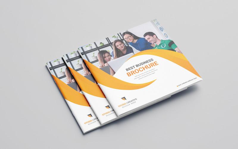 Diseño de folleto plegable Diabol - Plantilla de identidad corporativa