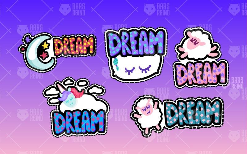 Dreaming Nice Symbols Set - Plantilla de identidad corporativa