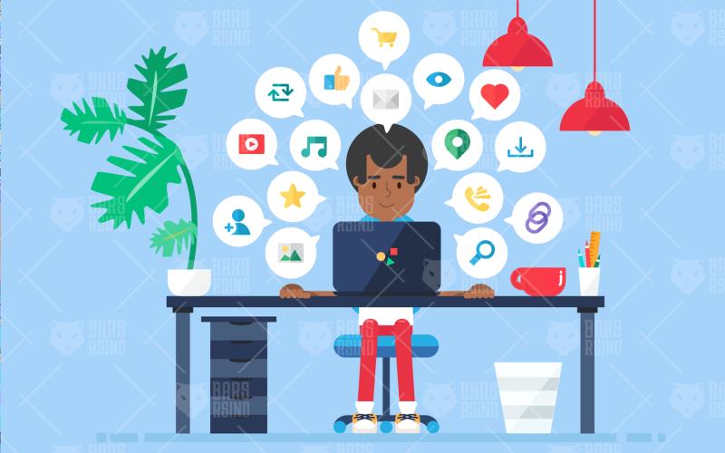 Espacio de trabajo empresarial en línea: plantilla de identidad corporativa