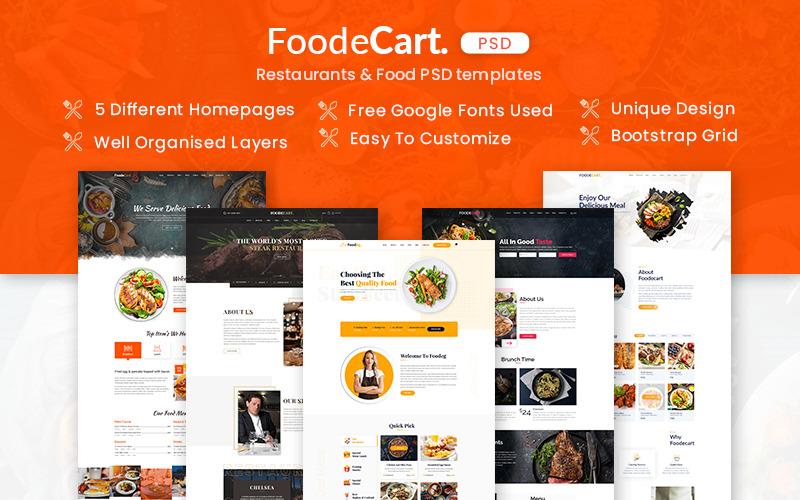 Foodecart - Restaurants & Food PSD Template