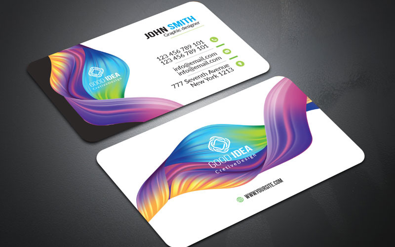 Nueva tarjeta de visita simple - Plantilla de identidad corporativa