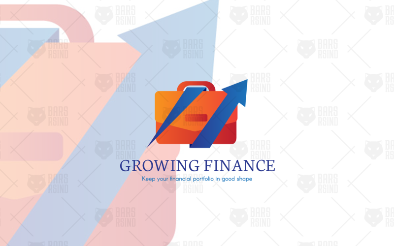 Plantilla de logotipo de Business Analytics y finanzas