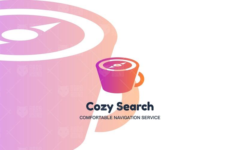 Plantilla de logotipo de búsqueda acogedora