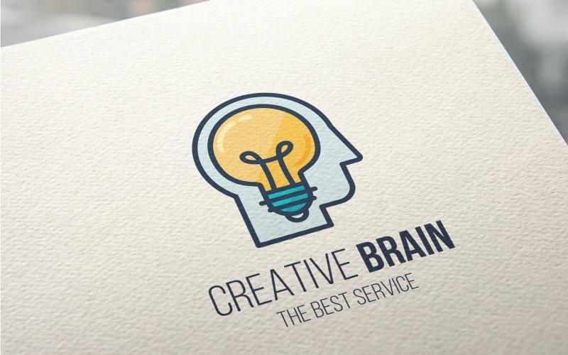 Plantilla de logotipo de cerebro creativo