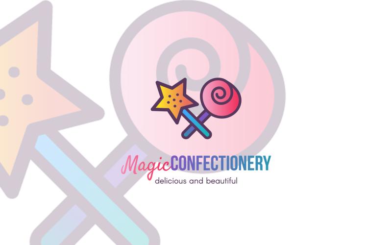 Plantilla de logotipo de confitería mágica