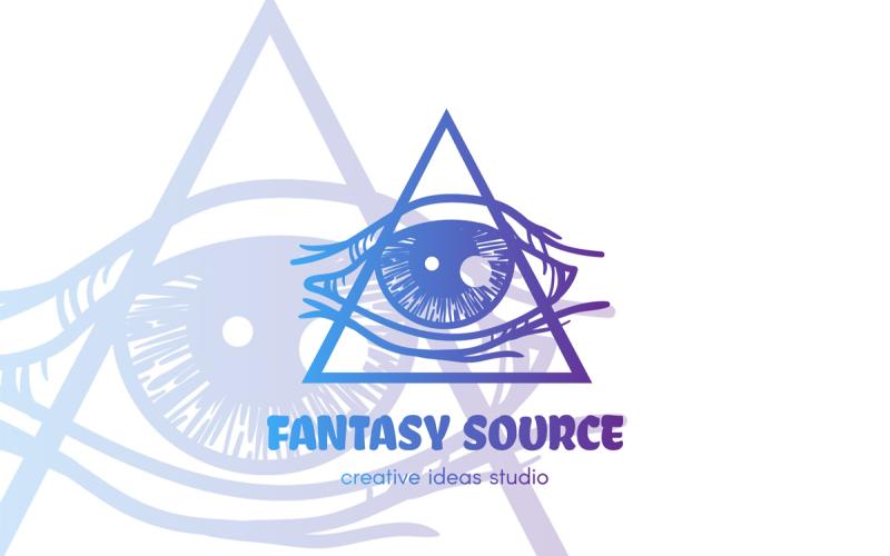 Plantilla de logotipo de ojo mágico