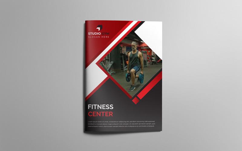 Asphalt Gym Fitness Diseño de folleto plegable - Plantilla de identidad corporativa
