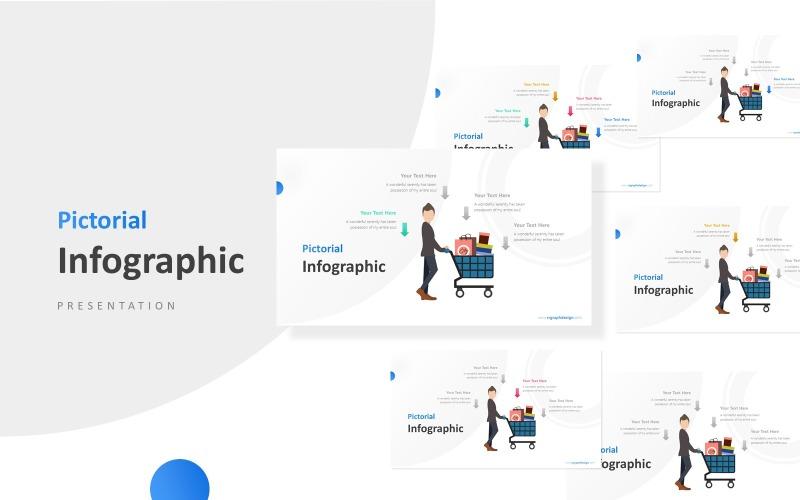 Carro de compras con empresario Infografía Presentación Plantillas de Presentaciones PowerPoint
