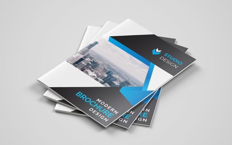 Diseño de folleto plegable Dungeons - Plantilla de identidad corporativa