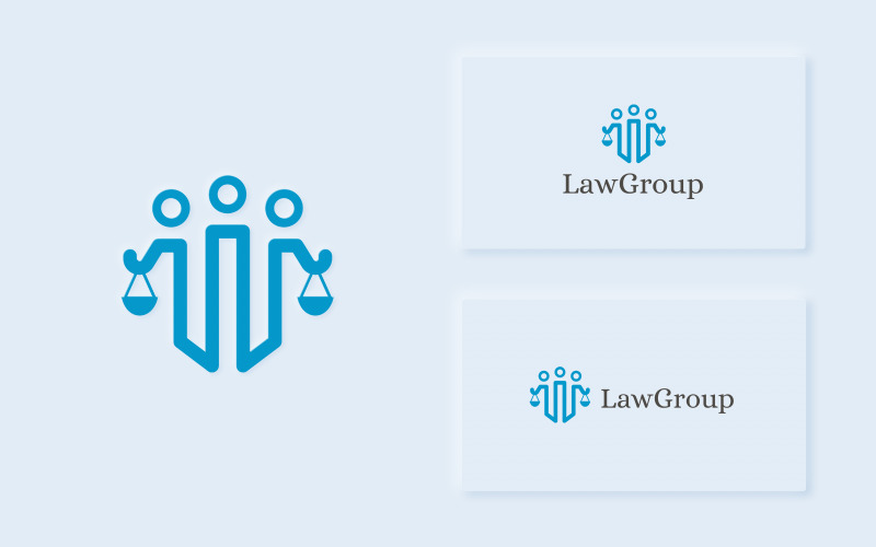 LawGroup - чистый и современный шаблон логотипа юриста