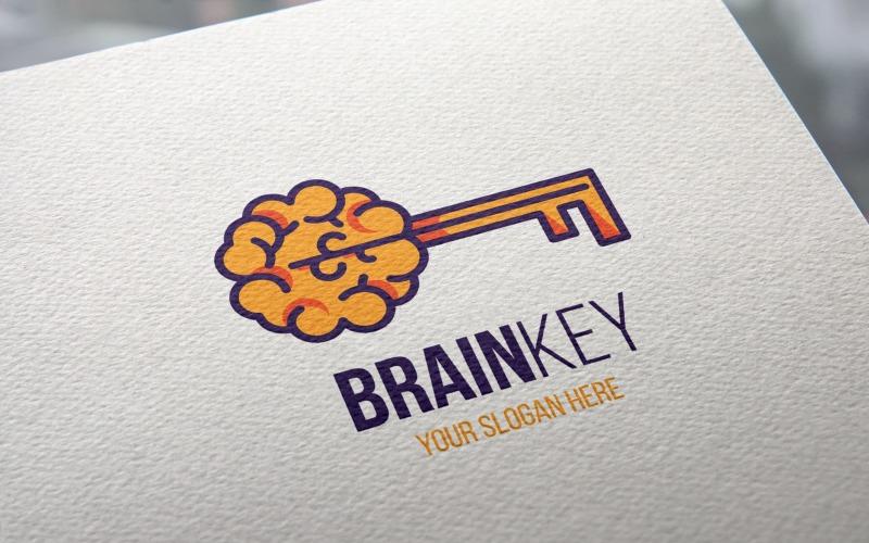 Plantilla de logotipo de Creative Brain Key
