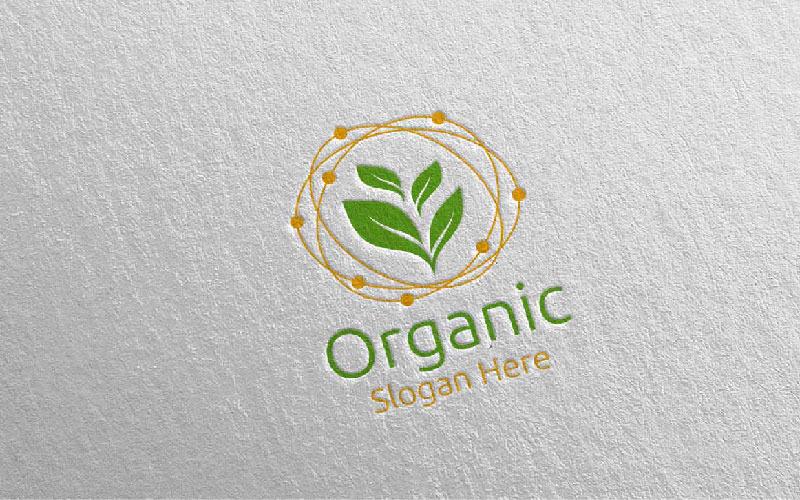 Plantilla de logotipo de diseño de jardinero botánico orgánico 1