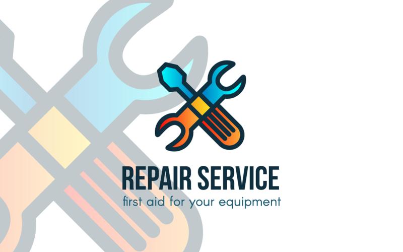 Plantilla de logotipo de servicio de reparación