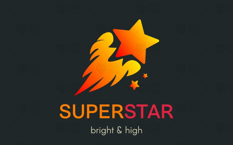 Plantilla de logotipo de Super Star