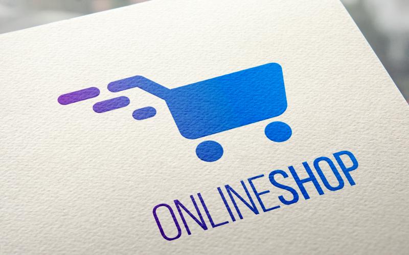 Plantilla de logotipo de tienda online