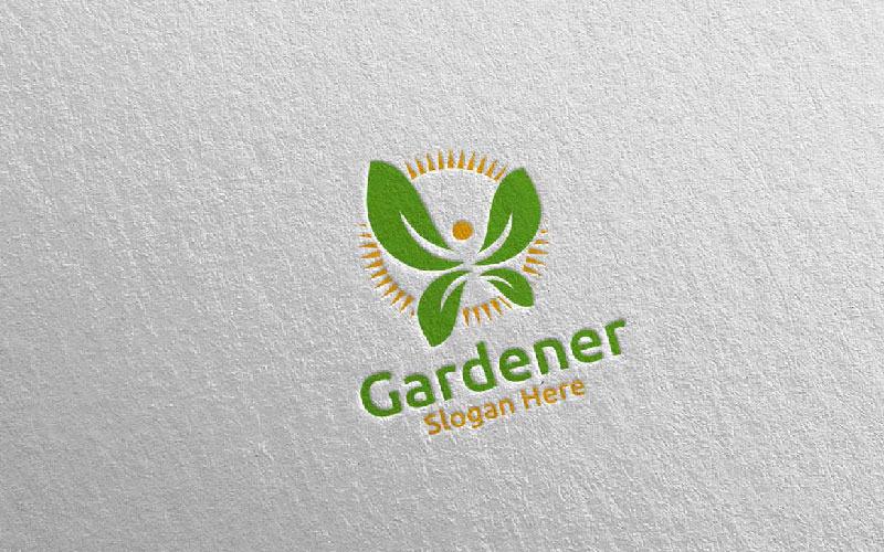 Plantilla de logotipo Herb Botanical Gardener Design 2
