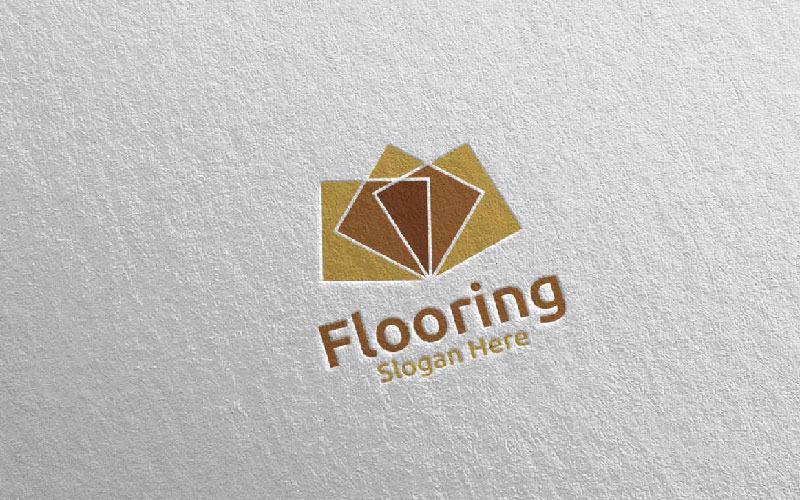 Plantilla de logotipo para pisos de parquet de madera 23