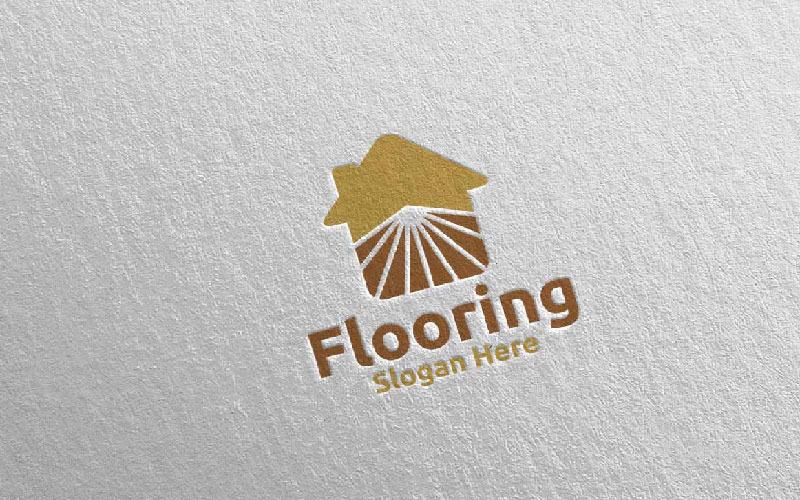 Plantilla de logotipo para pisos de parquet de madera 26