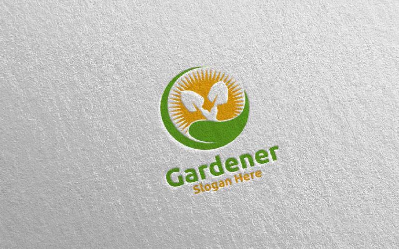 Plantilla de logotipo Rise Botanical Gardener Design 7