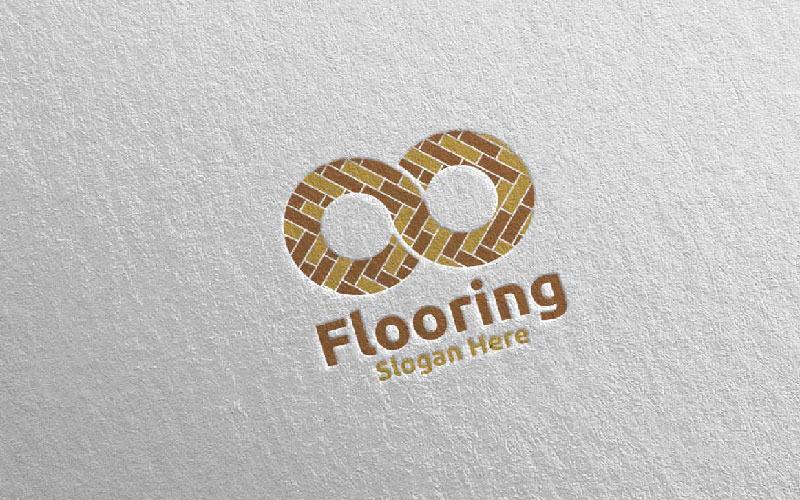 Шаблон логотипа Infinity Flooring Parquet Wooden 22
