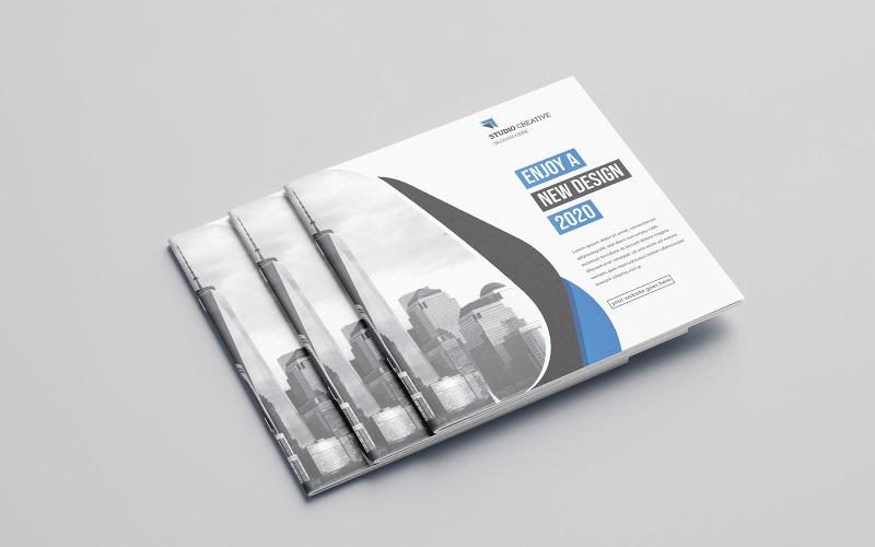 Sekrio Bifold Brochure Design - Plantilla de identidad corporativa