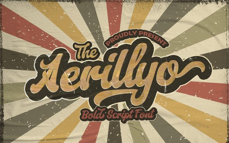 Aerillyo - Fuente cursiva negrita retro