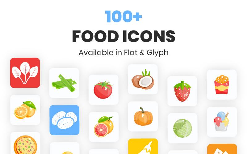 100+ conjunto de iconos de alimentos