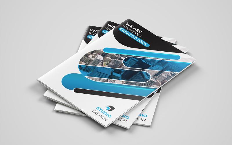 Diseño de folleto plegable BioShock - Plantilla de identidad corporativa