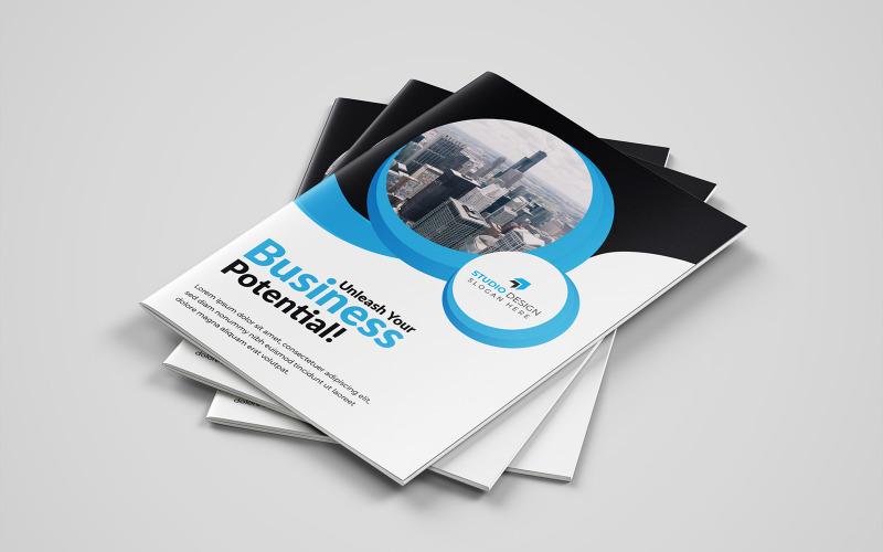 Diseño de folleto plegable Lechuks - Plantilla de identidad corporativa