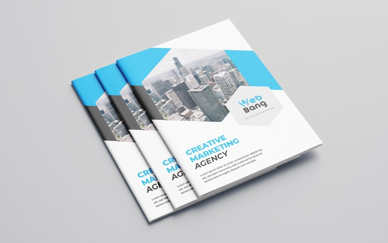 Diseño de folleto plegable Pro Skater - Plantilla de identidad corporativa