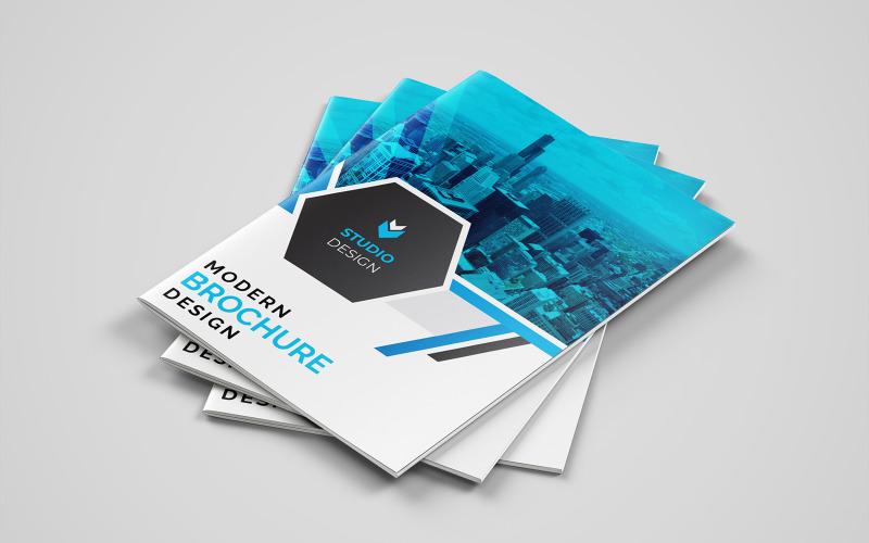 Diseño de folleto plegable Runeterra. - Plantilla de identidad corporativa