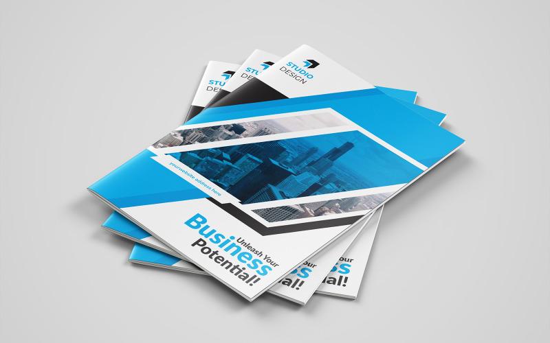 Diseño de folletos plegables de Castelvania - Plantilla de identidad corporativa