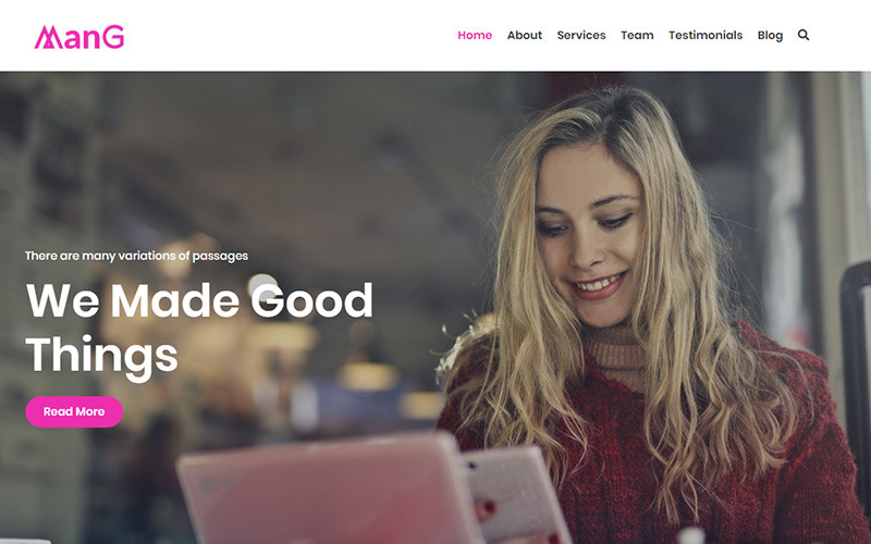 Mang - Creative & Agency Landing Page Template
