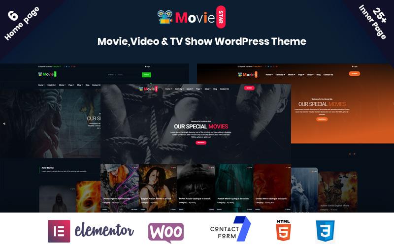 Moviestar - тема WordPress для онлайн-фильмов, видео и телешоу