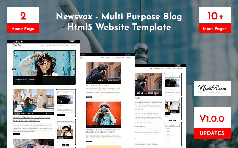Newsvox -  Multi Purpose Blog Html5 Website Template