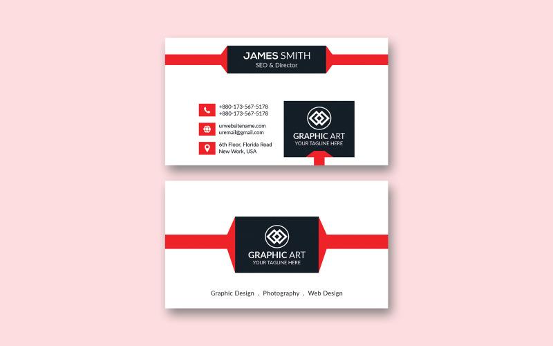 Tarjeta de visita simple - Plantilla de identidad corporativa