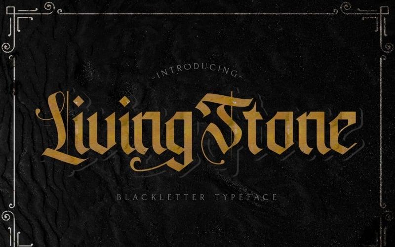 Livingstone - Fuente decorativa Blackletter