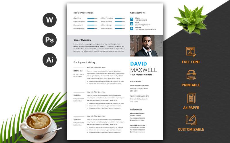 Plantilla de curriculum vitae profesional / cv