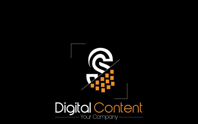 Plantilla de logotipo de contenido digital