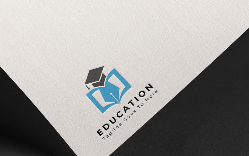 Plantilla de logotipo de diseño vectorial educativo