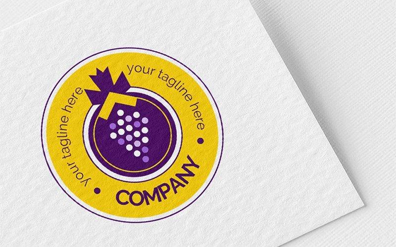 Plantilla de logotipo de racimo de uvas