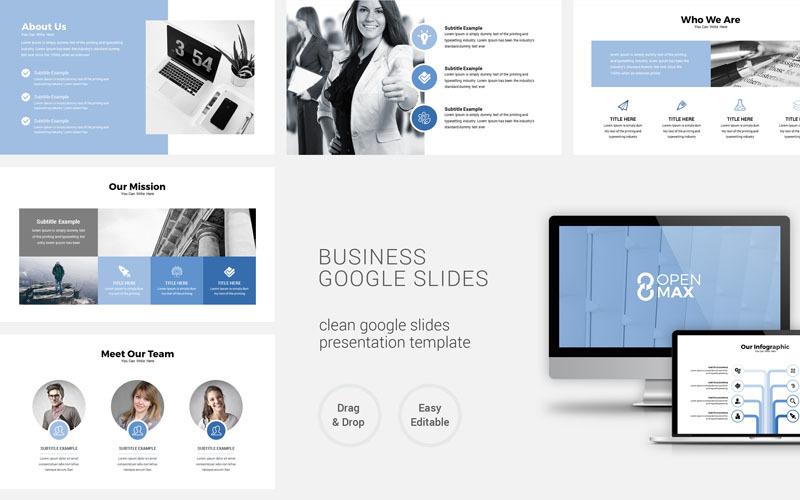 Plantilla de presentación mínima limpia Google Slides
