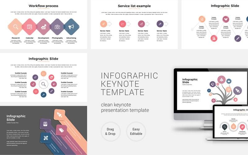 Presentación de negocios de infografía - Plantilla de Keynote