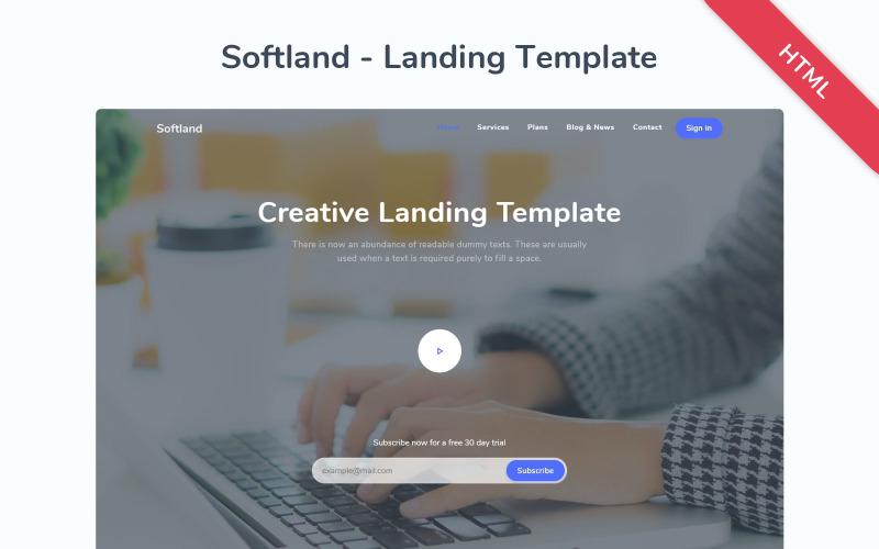 Softland - Plantilla de página de destino receptiva