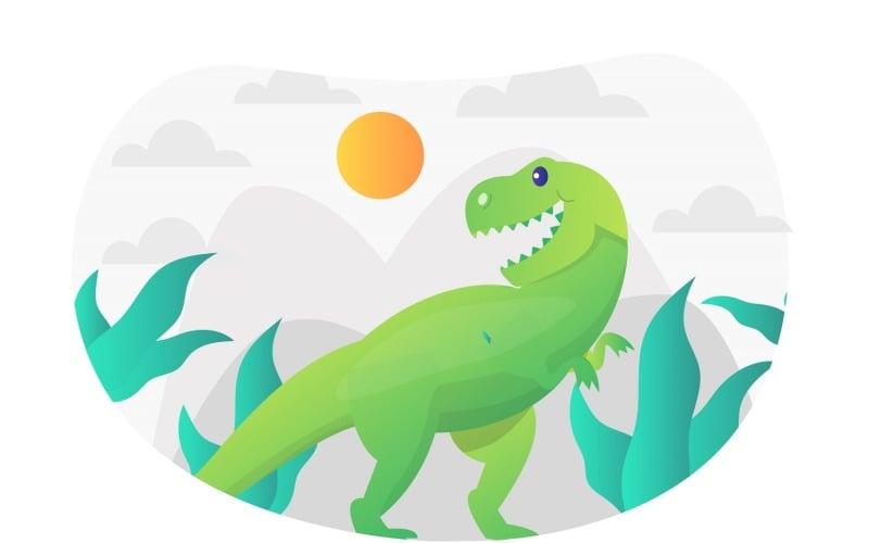 Tyrannosaurus Rex Ilustración plana - Imagen vectorial