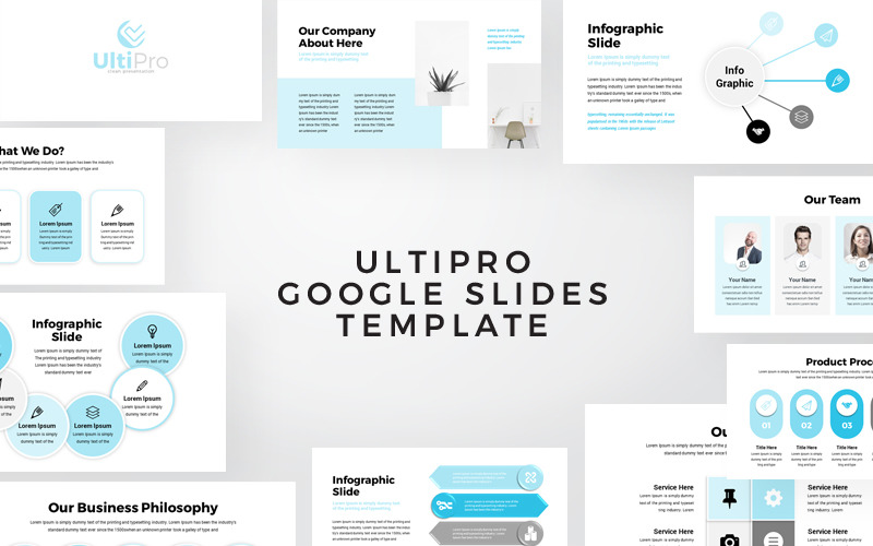UltiPro - Presentación infográfica empresarial Diapositivas de Google