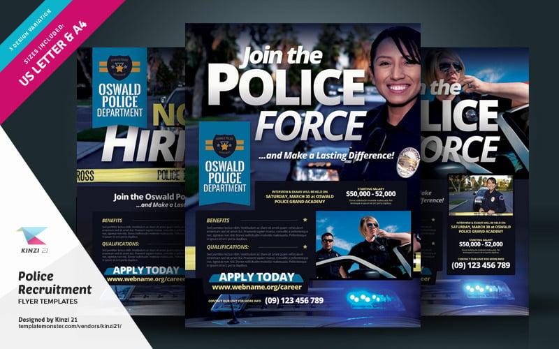 Folleto de reclutamiento policial - Plantilla de identidad corporativa