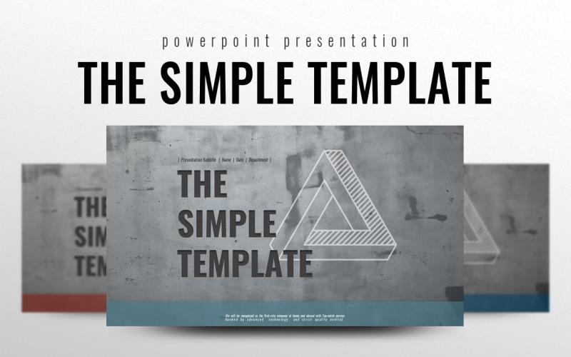 La plantilla simple de PowerPoint