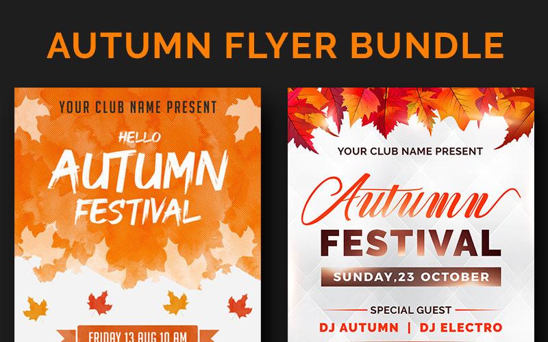 Paquete de folletos de otoño: plantilla de identidad corporativa